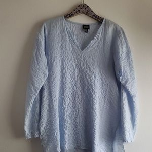 Eileen Fisher Lite Blue Tunic Blouse